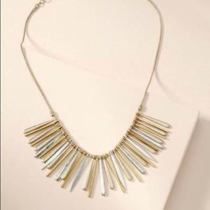 Stella & Dot Mixed Metal Fringe Necklace